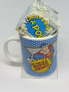 """SUPERMAN. """"My Dad is a super hero"""" Promo Mug and Boxed Toffees. Rare Item."""