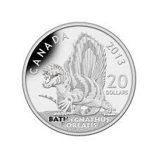 2013 $20 FINE SILVER COIN- DINOSAURS OF CANADA: BATHYGNATHUS BOREALIS
