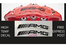 AMG BRAKE CALIPER DECAL HIGH TEMP (12cm) Black Curved Sticker Set x 2