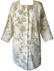 UNIQUE ❤GIANNA ROSE❤ TEXTURED COTTON JACKET WITH PASTEL FLOWERS OSFM - AS NEW