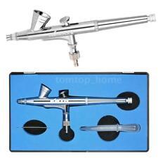 Kkmoon 0.25mm Gravity Gun Feed Dual-action Airbrush Kit Makeup Nail Art F0Y6
