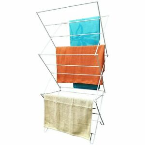 3 Tier Folding Winged Clothes Airer Drying Rack Laundry Dryer Indoor Outdoor New