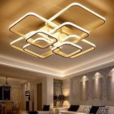 Modern Chandelier 4/6/8Light Square Pendant Lighting Celing Lamp +Remote C Deko