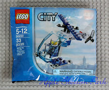 NEW Lego City RESCUE HELICOPTER Set - Police Man Minifig w/White Helmet 30222