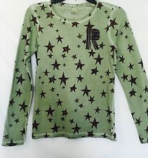 Scotch R'Belle Green Distressed Wash Star Shirt.NWT Age 12 Retail $46 Price $28