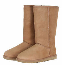 Women's Suede Boots without Pattern