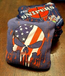 Lucky Bags Pro Sniper Punishers, Red, Brand new set of 4 cornhole bags