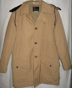 Vintage Anderson Little Men's Raincoat Trenchcoat Quilt Lining Size 42