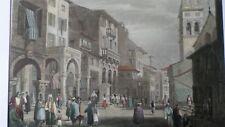 Gravure de 1836 - Espagne - Corfou - couleur