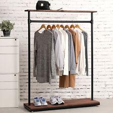 60 Inch Rustic Industrial Wood Amp Pipe Design Coat Rack Garment Display Stand