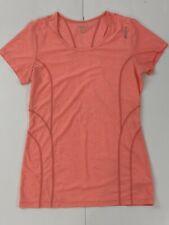 Reebok Womens Training Top Size XS Peach Short Sleeve Stretch Shirt SZ XCH