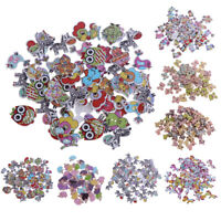 50pcs Wooden Buttons 2-hole Cartoon Animal Buttons for DIY Sewing Scrapbooking