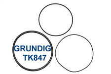 SET BELTS GRUNDIG TK847 REEL TO REEL EXTRA STRONG NEW FACTORY FRESH TK 847