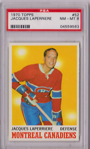 1970 Topps Jacques Laperriere #52 PSA 8 P803