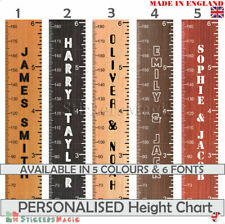Height Ruler Giant Wooden Print Personalised Height Chart Wall Stickers Decal UK