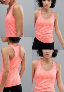 South beach Fitness Vest Yoga Top Soft Coral Marl Running Sleeveless T Shirt