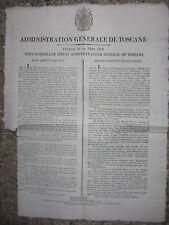 Q424-TOSCANA-POSTA-DECRETO DAUCHY 1808 SULLE FRANCHIGIE
