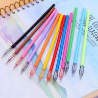 Gel Pen Draw Colored Diamond Pens 12Pcs set Candy Color School Student Supplies