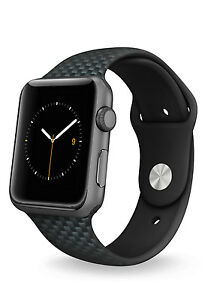 Apple Watch Silicone Replacement Bands [38mm/42mm] For Small & Large Wrist Sizes
