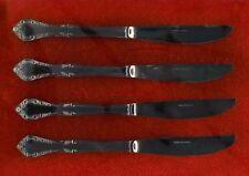 Estia Cascade Set Of 4 Dinner Knives Stainless Flatware Scrolls Flowers Mint!!!