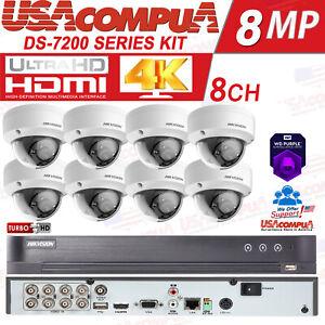 Hikvision 5MP 4K Security  System Kit 8CH DVR w/TB HDD 4K/5MP W/VANDAL PROOF