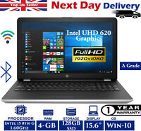 "HP 15-bs158sa 15.6"" Laptop Intel 8th-Gen i5 1.60Ghz 4GB RAM 128GB SSD Win 10 FHD"