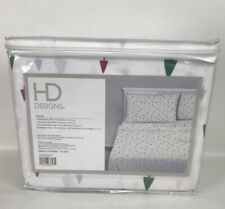 3 Piece Percale Twin Sheet Set HD Designs Christmas Forest 100% Cotton