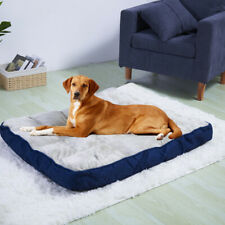 New listing 39x29in Extra Large Dog Bed Pillow Soft Linen Pet Mattress Bed w Removable Cover