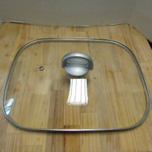 Glass and Stainless Steel Replacement Lid for Electric Skillet 15 x 12 in Vented