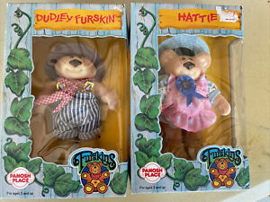 Furskins - 1986 Box Never Opened Dudley And Hattie Free Shipping