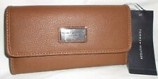 TOMMY HILFIGER COGNAC BROWN TRIFOLD CLUTCH  WOMENS WALLET NWT