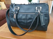 TIGNANELLO Black REAL LEATHER Handbag Brand New With Tags