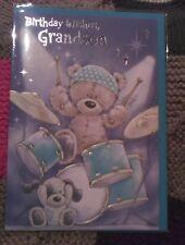 Grandson Happy Birthday greetings card - cute - drums - child