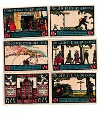 Goch Notgeld 6 Scheine. Los 1542. schoeniger-notgeld
