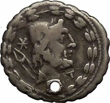 Roman Republic 105BC VULCAN Hephaestus Eagle Original Ancient Silver Coin i52645