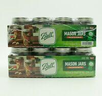 LOT of 24 Pack BALL Regular Mouth Half Pint Canning Mason Jars  Lids Bands 8 oz