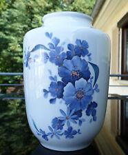"Grosse Jäger & Co Porzellan Vase "" Blumendekor "" 70er Jahre 30 cm !!!"