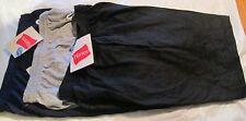 Hanes Jogging  Short Small 3 pc 3 Color  2 pocket 100 % Cotton Jersey Material