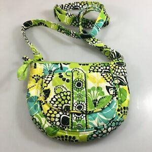Vera Bradley Lime's Up Cotton Crossbody Shoulder Bag