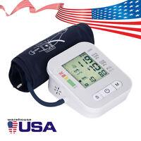 Automatic Digital Upper Arm Blood Pressure Monitor Screen Heart Rate Beat LCD