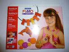 Fimo soft Bastelset Schmuckbasteln Kinder Modellier-Set 8xFimo Star Modell rot..