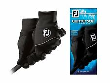 New FootJoy WinterSof Men's Golf Gloves Black Size Large 1 Pair Winter Sof