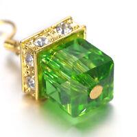 Retro 925 Silver Amethyst Gemstone Wedding Engagement Earrings Jewelry Women