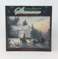 Thomas Kinkade 750 PC Shimmer Victorian Christmas Jigsaw Puzzle CEACO