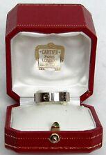 100% GENUINE MEN'S CARTIER 18K WHITE GOLD 5.5mm LOVE RING 62