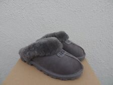 UGG COQUETTE GREY SUEDE SHEEPSKIN SLIPPERS, WOMEN US 11/ EUR 42  ~ NEW IN BOX