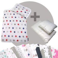 Bettwäsche-Set 4-tlg. für Kinderwagen Babybett Decke+Kissen+Füllung (STARS 11)