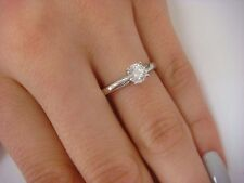 AUTHENTIC LEO DIAMOND 0.49 CT PLATINUM AND 14K GOLD SOLITAIRE ENGAGEMENT RING