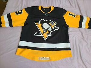 Adidas MIC Game Worn Used Pittsburgh Penguins Derick Brassard Jersey Gamer sz 56