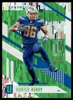 2017 UNPARALLELED GREEN WIND CHIMES HUNTER HENRY LOS ANGELES CHARGERS #93